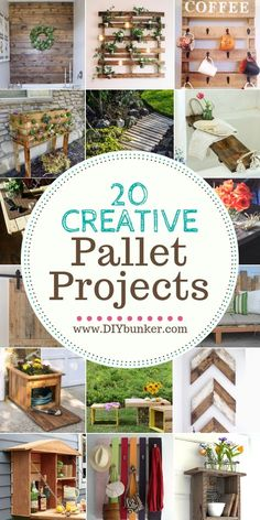 20 Creative Pallet Projects for Your Home : I am IN LOVE with these pallet projects! These are perfect for anyone on the hunt for DIY recycled home decor! pallet rustic diy homedecor diyhomedecor decor home homeimprovement Creative Pallet Projects Pallet Crafts, Diy Pallet Projects, Home Projects, Pallet Ideas, Pallet Diy Easy, Recycled Home Decor, Diy Home Decor, Recycled Wood, Pallets Garden