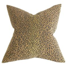 Add a pop of pattern to your sofa or favorite arm chair with this lovely cotton pillow, showcasing an animal print motif and feather-down fill.