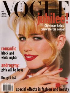 Claudia Schiffer by Walter Chin Vogue Australia December 1992
