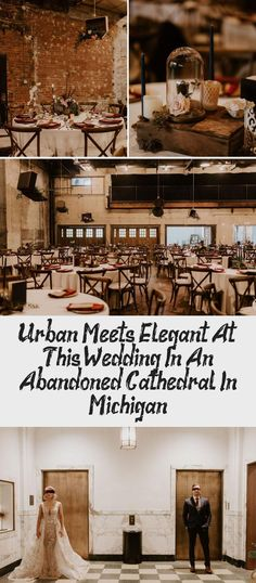 Urban Meets Elegant at this Wedding in an Abandoned Cathedral in Michigan - Green Wedding Shoes #BlackBridesmaidDresses #BridesmaidDressesFall #BridesmaidDressesMauve #ChampagneBridesmaidDresses #BridesmaidDressesBlue