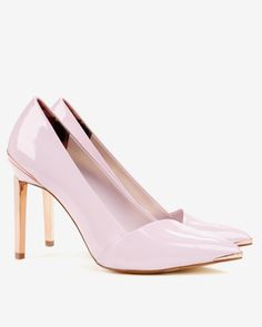 Pointed high top court shoes - Light Pink   Footwear   Ted Baker UK
