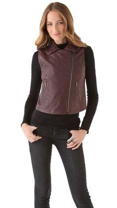 Theory Madrigal Vest | leather vest | fall vest