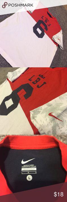 Nike USA LEBRON Tshirt. Sz large Nike USA LEBRON Tshirt. Red white and blue. Sz Large Nike Shirts Tees - Short Sleeve