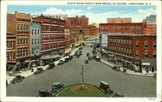 """South Main Street from Brooklyn Square, Jamestown NY"""