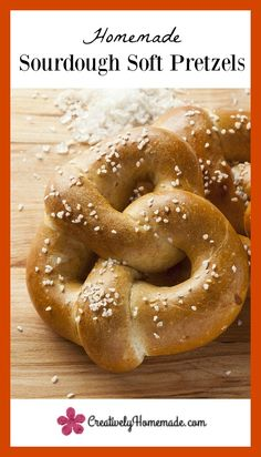 This whole wheat sourdough soft pretzel recipe is one you will make again and again. Slightly sour and perfectly chewy, it is hard to eat just one of these yummy pretzels.  Learn how to make them here!