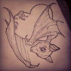 bat drawing tattoo - Google Search