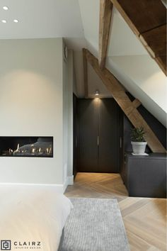 Interior Architecture, Interior Design, Attic Renovation, Attic Spaces, Bedroom Inspo, Bedroom Inspiration, Industrial House, Beautiful Interiors, Victorian Homes