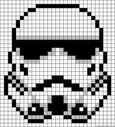 Stormtrooper Star Wars perler bead pattern