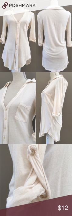 Buttoned down blouse Brandy Melville button down blouse Brandy Melville Tops Button Down Shirts