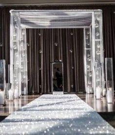 1000 Ideas About Glitter Wedding Aisle Runners On