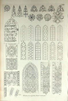 1845 Rare Large English Antique Engraving of British Architectural Gems. Windows in Wells Cathedral, Somerset, the UK. Architecture Antique, Architecture Portfolio, Historical Architecture, Architecture Details, Gothic Architecture Drawing, Art Nouveau, Art Deco, Gothic Windows, Inspiration Design