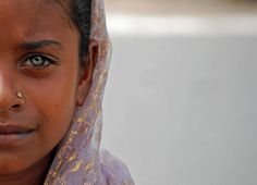 Look at the beauty of the eye...  India - People by cpcmollet, via Flickr