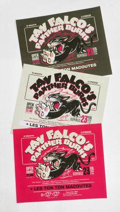 TAV FALCO'S PANTHER BURNS + Les TonTon Macoutes _ WahWah club (Valencia) 2014 - cartel
