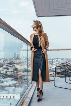 b3713433b2 Belles tenues d'hiver Pencil Skirt Outfits, Long Pencil Skirt, Edgy Chic,