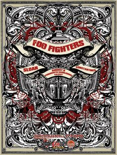 Foo Fighters - Sloan - Constantines, The #music #concert #design