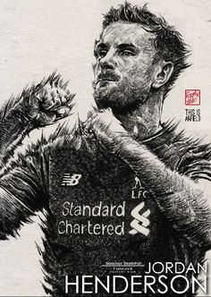 GET WELL SOON Jordan Henderson! #YNWA : Liverpool season 2016-2017 #Liverpool #TheKopArtsStudio.