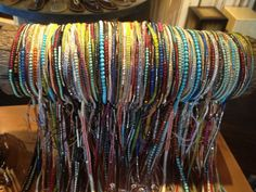 Inspired by the wrapped bracelet Chan Luu look, Two Old Hippies in the Gulch has many similar ones to choose from, for only $40 each