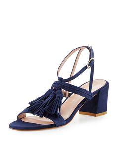 STUART WEITZMAN Tasselmania Suede City Sandal. #stuartweitzman #shoes #sandals