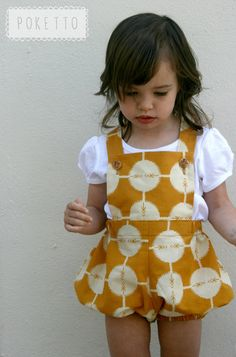 spotty mustard vintage sunsuit. size 612 months by pokettoclothing