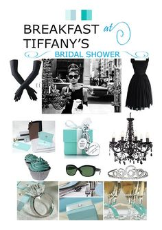 Okay, I REALLY want to do this! Who's getting married next so I can throw them a Breakfast at Tiffanys shower?  Maybe my niece Marlee? Or maybe I could use this as the theme for my next Tea Party fundraiser!