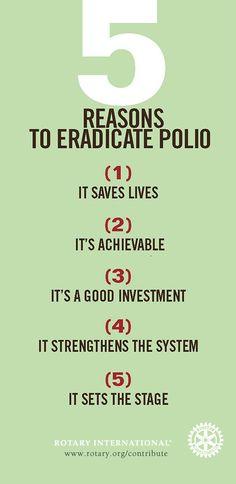 5 reasons to eradicate polio