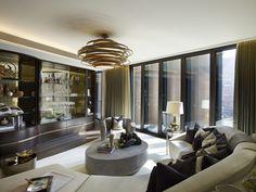 huiskamer, bank, Hyde Park Penthouse, Londen, appartement, duur - Wonen Voor Mannen - De 5 duurste penthouses over de wereld