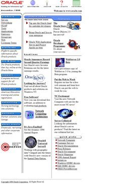 Look at how Oracle website looked in 1996 and travel with us through the history of web design.