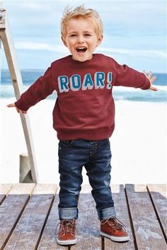 Buy Plum Roar Crew from the Next UK online shop Boys Clothes Style, Kids Clothes Boys, Little Boy Fashion, Kids Fashion Boy, Toddler Boys, Baby Kids, Lil Boy, Baby Wearing, Latest Fashion For Women