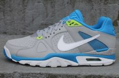 best service ab938 b8ac7 Nike Air Trainer Classic – Wolf Grey  Neptune Blue Kicks Shoes, Shoes  Sneakers,