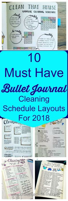 10 Must Have Bullet Journal Cleaning Schedule Layouts For 2018