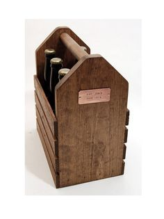 Items similar to Personalized Six Pack Longneck Wood 12 oz Beer Bottle Carrier - Homebrew/ Microbrew - Handcrafted - 6 pack Carrier - Stained - Rustic on Etsy
