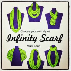 How to tie a scarf. How to wear an infinity scarf. #fashion #style shop.EthosCreativeGroup.com