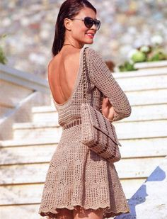 CROCHET FASHION TRENDS exclusive crochet dress by LecrochetArt