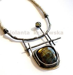 two sapphires statement necklace sterling by jolantakrajewska