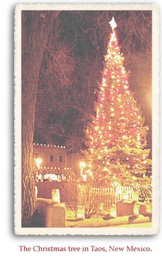 The Christmas tree in Taos, New Mexico.