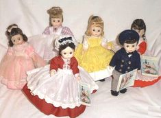 "Madame Alexander dolls - I had ""Amy"" from Little Women, and my sister had Marmie in red"