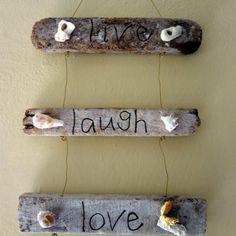 Driftwood + Shells + Words + Twine