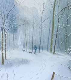 Silent Snow in the Woods by Nicholas Hely Hutchinson