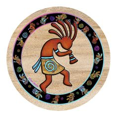 Kokopelli Toss Coaster