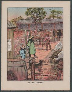 ARTHUR RACKHAM 1901. 'In the Farmyard'
