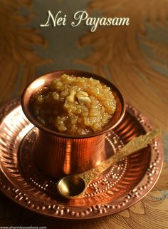 Nei Payasam is a special traditional payasam usually served in Sabari Malai temples and many Kerala temples during occasions.I wanted to . Indian Dessert Recipes, Indian Sweets, Indian Snacks, Sweets Recipes, Cooking Recipes, Diwali Recipes, Sweet Crepes Recipe, Kerala Food, Kitchens