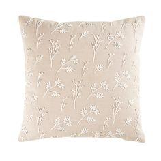 Coussin en coton beige imprimé fleurs 45x45 | Maisons du Monde