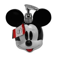 "Mickey Mouse Decorative Bath Collection - Lotion/Soap Pump (00032281005115) Disney Mickey Mouse Lotion Pump: Adds a fun touch to your bathroom Holds your favorite lotion or liquid hand soap Sculpted resin construction Part of the Mickey Mouse bath collection Measures: 5.31""L x 5""W x 4.5""H"