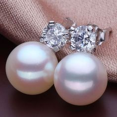 freshwater pearl earrings silver,pearl stud earrings,nickle free pearl earrings,pearl sterling silver earrings,real pearl earings,ER034 on Etsy, $38.00