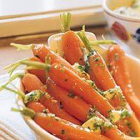 Recept - Bospeen met bieslookboter - Allerhande Carrots, Salad, Fruit, Vegetables, Food, Mushroom, Red Peppers, Essen, Carrot