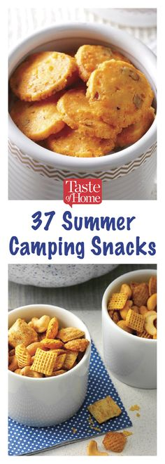 If you're planning on spending time in the great outdoors, be sure to pack a few of these camping snacks. Camping Snacks, Camping Recipes, Camping Appetizers, Camping Games, Tent Camping, Glamping, Camping Outfits, Great Recipes, Snack Recipes