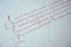 Chancelière historique - Calligraphie Julien Chazal