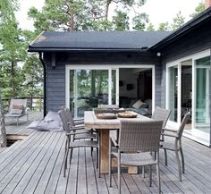 Cabins In The Woods, House In The Woods, Black House Exterior, Weekend House, Facade House, Scandinavian Home, The Ranch, House Colors, Future House