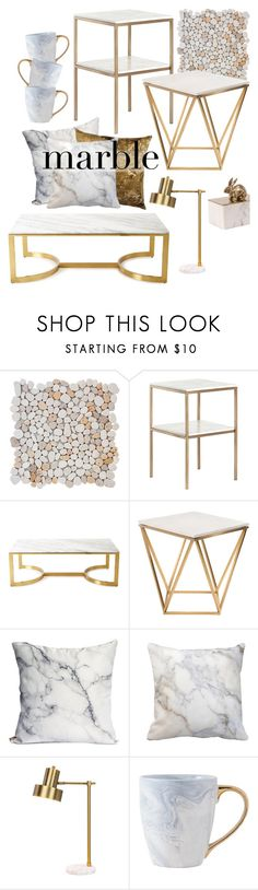"""Classic Elegance: Marble Home"" by vistoerepito ❤ liked on Polyvore featuring interior, interiors, interior design, home, home decor, interior decorating, Bernhardt, Nuevo and marblehome"