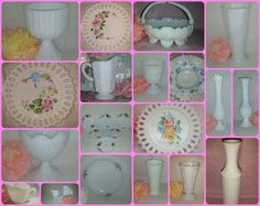 Got Milk Glass? Well, I do. http://etsy.me/1PqPIzl JYBVIP20 for EXTRA 20% Off #milkglass #vintage #weddingsupplies